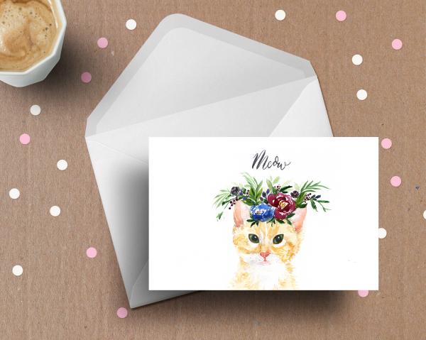 Watercolour-cat-christmas-card
